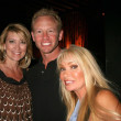 Wendy Burch with Ian Ziering and Gloria Kisel — Stock Photo