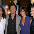 Stock Photo: Kenny G and Harry Hamlin with LisRinnand Louis vAmstel at launch party for Dance Body Beautiful series of DVDs by LisRinna. Belle Gray, ShermOaks, CA. 12-09-08