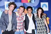 Robert Pattinson and Cam Gigandet with Taylor Lautner and Kristen Stewart — Stock fotografie