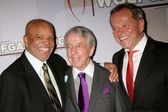 Berry Gordy, Norman Brokaw, Wolfgang Puck — Stock Photo