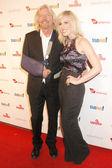 Richard Branson and Natasha Bedingfield — Stock Photo