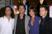Kenny G and Harry Hamlin with Lisa Rinna and Louis van Amstel at the launch party for Dance Body Beautiful series of DVDs by Lisa Rinna. Belle Gray, Sherman Oaks, CA. 12-09-08 — Stock Photo