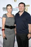 Jane Fallon and Ricky Gervais — Stock Photo