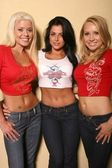 Brandie Moses, Louise Glover, Alana Curry — Stock Photo