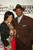 Jimmy Jam and wife Lisa at the 5th Annual Black Eyed Peas Peapod Foundation Benefit Concert. The Conga Room, Los Angeles, CA. 02-05-09 — Stock Photo