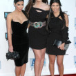 Stock Photo: Kimberly Kardashiwith Khloe Kardashiand Kourtney Kardashianat Bravo
