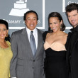 Постер, плакат: Smokey Robinson and wife Frances with Paula Patton and Robin Thicke
