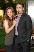 Susan Downey and Robert Downey Jr — Stock Photo