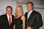 Wolfgang Puck with Camille Grammer and Kelsey Grammer — Stock Photo