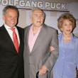 Wolfgang Puck with Camille Grammer and Kelsey Grammer — Стоковая фотография