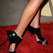 Jessica Stroup's shoes at the Los Angeles Premiere of 'The Informers'. Arclight Theater, Hollywood, CA. 04-16-09 - Zdjęcie stockowe