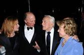 Amy Madigan, Ed Harris, Anne Douglas, Kirk Douglas — Stock Photo