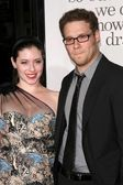 Seth Rogen and friend — Stock Photo