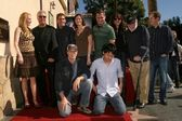 William Peterson and the cast of 'CSI Crime Scene Investigation' — ストック写真