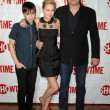 Keir Gilchrist with John Corbett and Brie Larson at the Showtime Winter TCA Party. Roosevelt Hotel, Hollywood, CA. 01-14-09 — Stock Photo