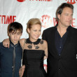 Keir Gilchrist with John Corbett and Brie Larson  at the Showtime Winter TCA Party. Roosevelt Hotel, Hollywood, CA. 01-14-09 - Stock Photo