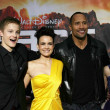 Alexander Ludwig and Carla Gugino with Dwayne Johnson and AnnaSophia Robb  at the Los Angeles Premiere of Race To Witch Mountain. El Capitan Theatre, Hollywood, CA. 03-11-09 - Stock Photo