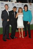 Rob Estes and Tristan Wilds with Lori Loughlin and Michael Steger — Stock Photo