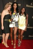 Elisabeth Baron with Kim Porter and Cheryl Fox at a Photo Exhibit Opening Featuring The Work of Cheryl Fox. The Celebrity Vault, Beverly Hills, CA. 06-26-09 — Stock Photo