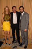 Leslie Mann, Garry Shandling and Judd Apatow — Stock Photo