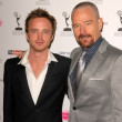Aaron Paul and Bryan Cranston  at the Academy of Television Arts and Sciences Prime Time Emmy Nominees Party. Wolfgang Puck Pacific Design Center, West Hollywood, CA. 09-17-09 — Stock Photo