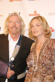 Richard Branson and Sharon Stone — Stock Photo