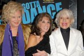 Sally Kirkland with Kate Linder and Carol Channing — Stock Photo