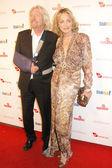 Richard Branson and Sharon Stone — Stock Photo