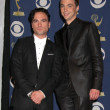 Постер, плакат: Johnny Galecki and Jim Parsonsin the Press Room at the 61st Annual Primetime Emmy Awards Nokia Theatre Los Angeles CA 09 20 09