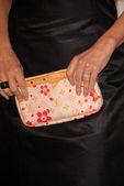 Sela Ward's purse — Stock Photo