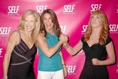 Lucy Danziger with Jillian Michaels and Kathy Griffin — Stock Photo