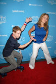 Seth Green and Erika Christensen — Stock Photo