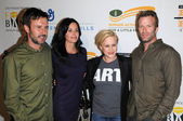 David Arquette and Courteney Cox with Patricia Arquette and Thomas Jane — Stock Photo