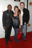 Jimmy Jean-Louis with Beth Toussaint and Jack Coleman — Stock Photo