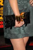 Ariana Grandes purse — Stock Photo