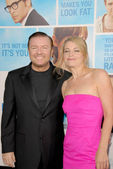 Ricky Gervais and Jane Fallon — Stock Photo