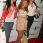 Постер, плакат: Kimberly Kardashian with Adrienne Bailon and Khloe Kardashian