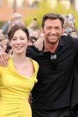 Lynn Collins and Hugh Jackman — Stock Photo