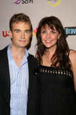 Robin Dunne and Amanda Tapping — Стоковое фото