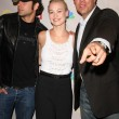 Zachary Levi with Yvonne Strahovski and Adam Baldwin — Stock Photo