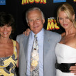 Adrienne Barbeau with Buzz Aldrin and Nicollette Sheridat Los Angeles Premiere of Fly Me To Moon. DGA, Hollywood, CA. 08-03-08 — Stock Photo #15283997