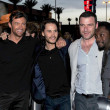 Hugh Jackmand Taylor Kitsch with Liev Schreiber and Will i Am at United States Premiere of — Stock Photo #15284875