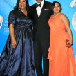 Shonda Rhimes with James Pickens Jr. and Chandra Wilson — Foto de Stock