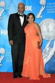 James Pickens Jr. and Chandra Wilson in the press room at the 40th NAACP Image Awards. Shrine Auditorium, Los Angeles, CA. 02-12-09 — Stock Photo