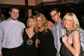 Jennifer Blanc with Brad Sandler and Courtney Peldon and Steve Hurdle and Ashley Peldon — Stock Photo