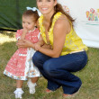 Stock Photo: Ali Landry and daughter Estelat 20th Annual Time For Heroes Celebrity Carnival benefitting Elizabeth Glaser Pediatric AIDS Foundation. Wadsworth Theater, Los Angeles, CA. 06-07-09