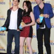 Постер, плакат: Taylor Lautner with Kristen Stewart and Robert Pattinson