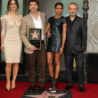 Berenice Marlohe, Javier Bardem, Naomie Harris, Sam Mendes — Stock Photo