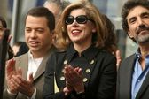 Jon Cryer with Christine Baranski and Chuck Lorre — Stock Photo