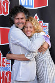 Wayne Coyne and wife Michelle — Stock Photo